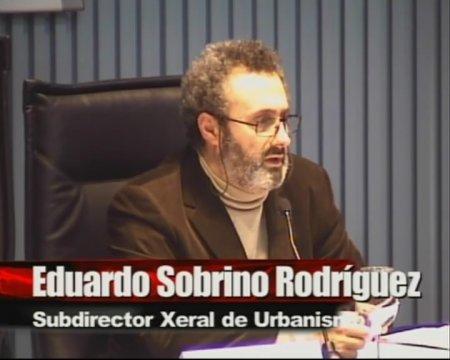 Eduardo Sobrino Rodríguez, subdirector xeral de Urbanismo - Xornada sobre as instrucións de desenvolvemento da Lei 9/2002, de 30 de decembro, de Ordenación Urbanística e do Medio Rural  de Galicia, na redacción